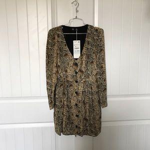 NWT Zara leopard dress